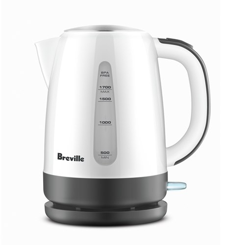 the Easy Pour™ Kettles & Tea in White cordless convenience