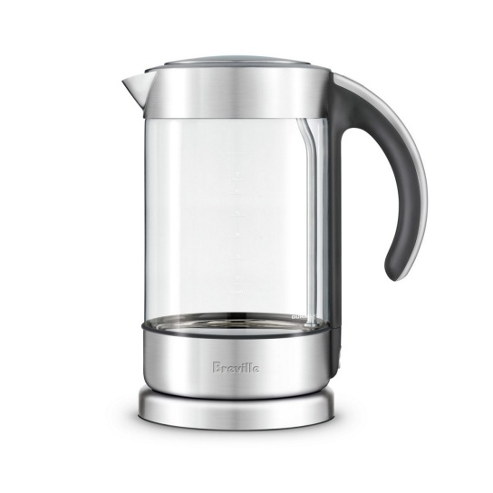 the Crystal Clear™ Glass kettle with brushed stainless steel