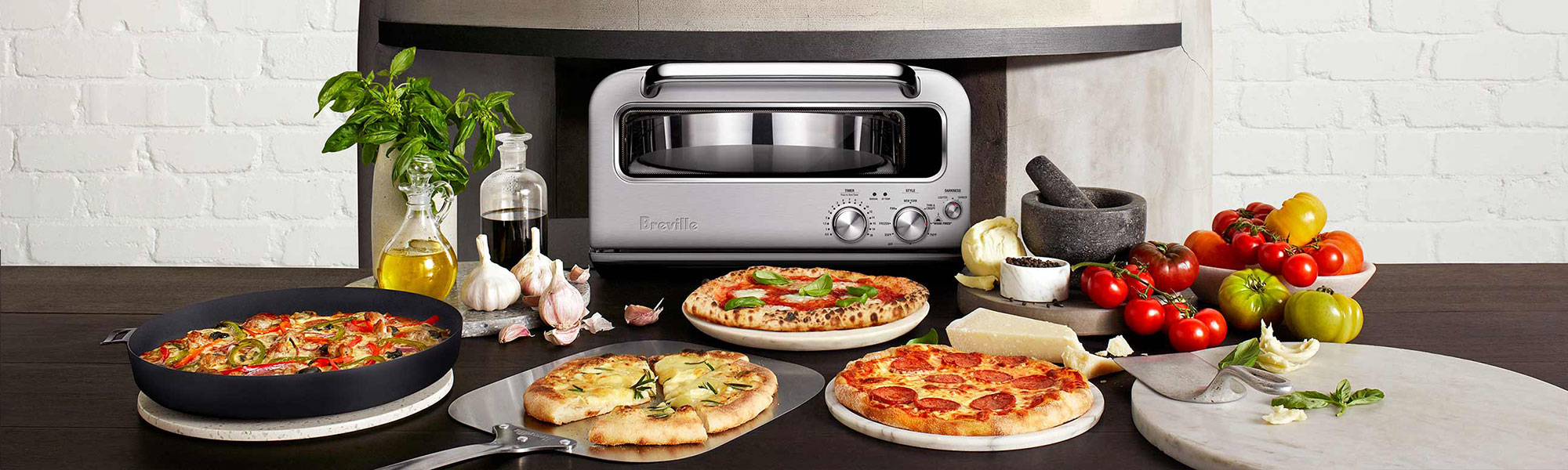 the Smart Oven Pizzaiolo Pizza maker in Brushed Stainless Steel