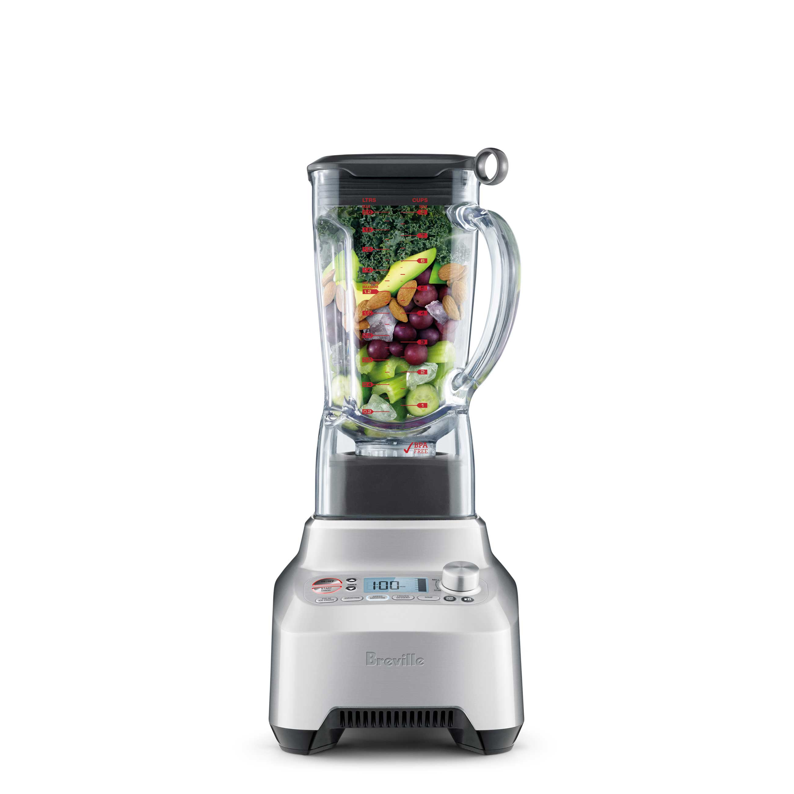 the Breville Boss Blender in Silver with stainless blade