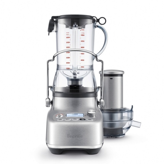 Bluicer with juicing jug and juice press attachment.