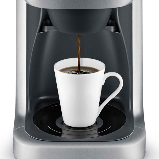 the Grind Control™ Nespresso Machine In Brushed Stainless Steel steep and release technology