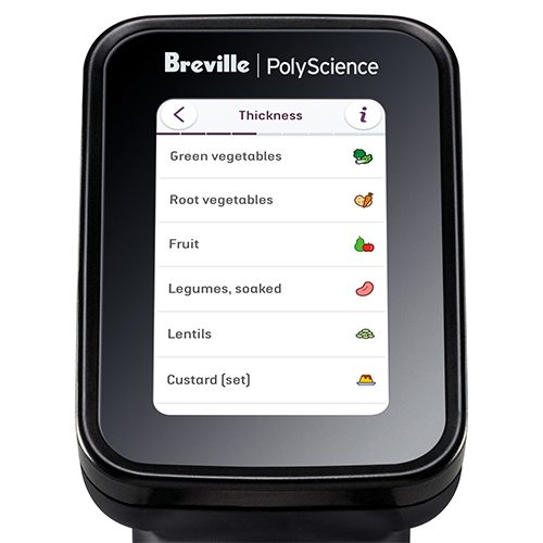 Mobile phone displaying Sous Vide Toolbox application.