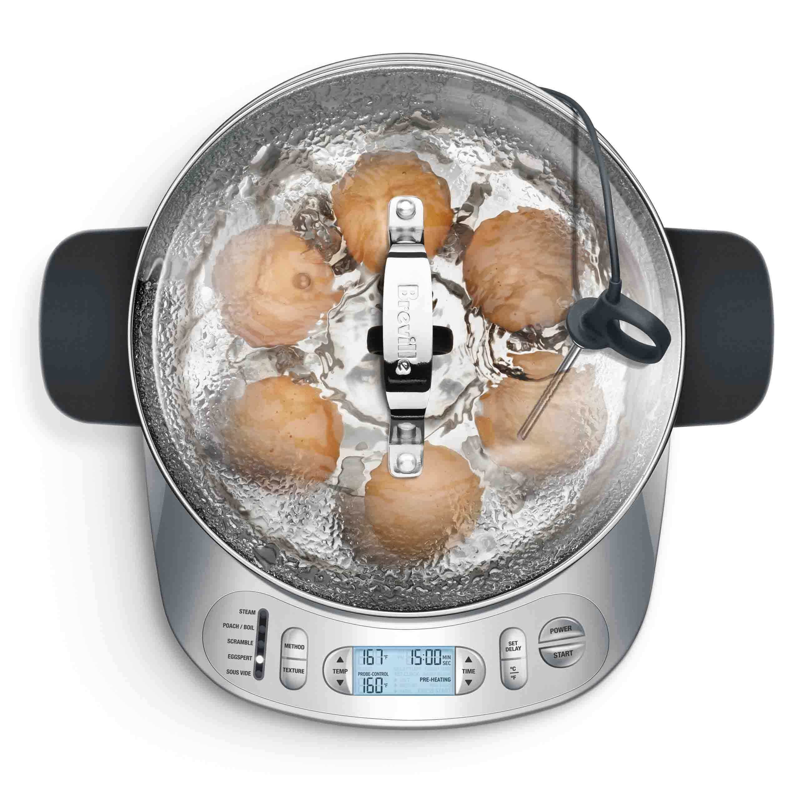 One° Precision® Poacher Cooker In Silver with eggs