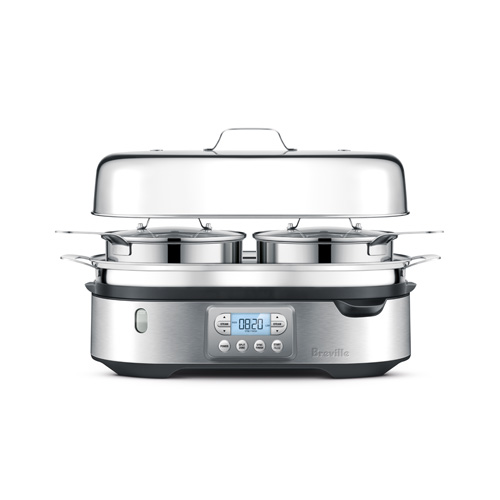 The Steam Zone™ Cooker In Brushed Stainless Steel steam zone construction