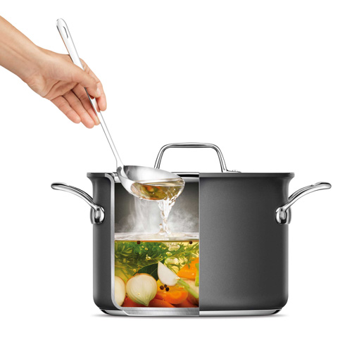 Thermal Pro Hard Anodized Covered 4qt Saucepot in Hard Anodized Aluminium with premium hard-anodized construction