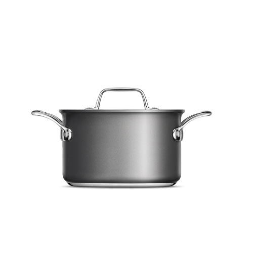 Thermal Pro Hard Anodized Covered 4qt Saucepot in Hard Anodized Aluminium is oven and dishwasher safe