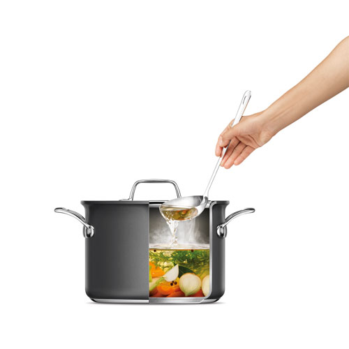 Thermal Pro Hard Anodized Covered 8qt Stockpot in Hard Anodized Aluminium with premium hard-anodized construction