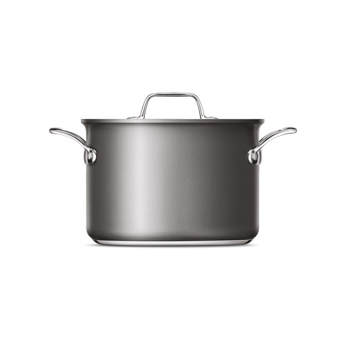 Thermal Pro Hard Anodized Covered 8qt Stockpot in Hard Anodized Aluminium is oven and dishwasher safe