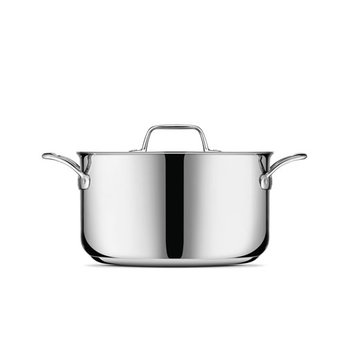 Thermal Pro Clad Stainless Steel 8qt Stockpot in Polished Stainless Steel is oven and dishwasher safe