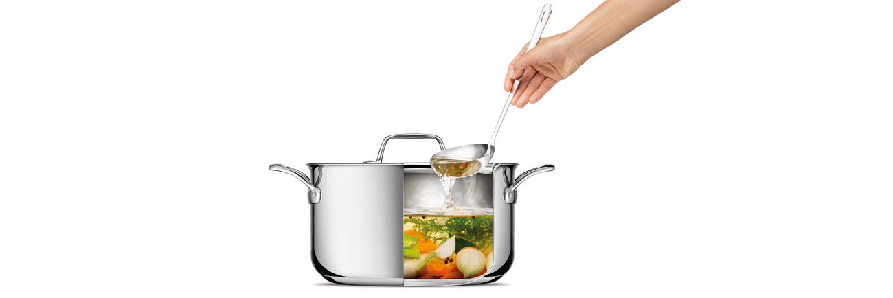 Thermal Pro Clad Stainless Steel 8qt Stockpot in Polished Stainless Steel