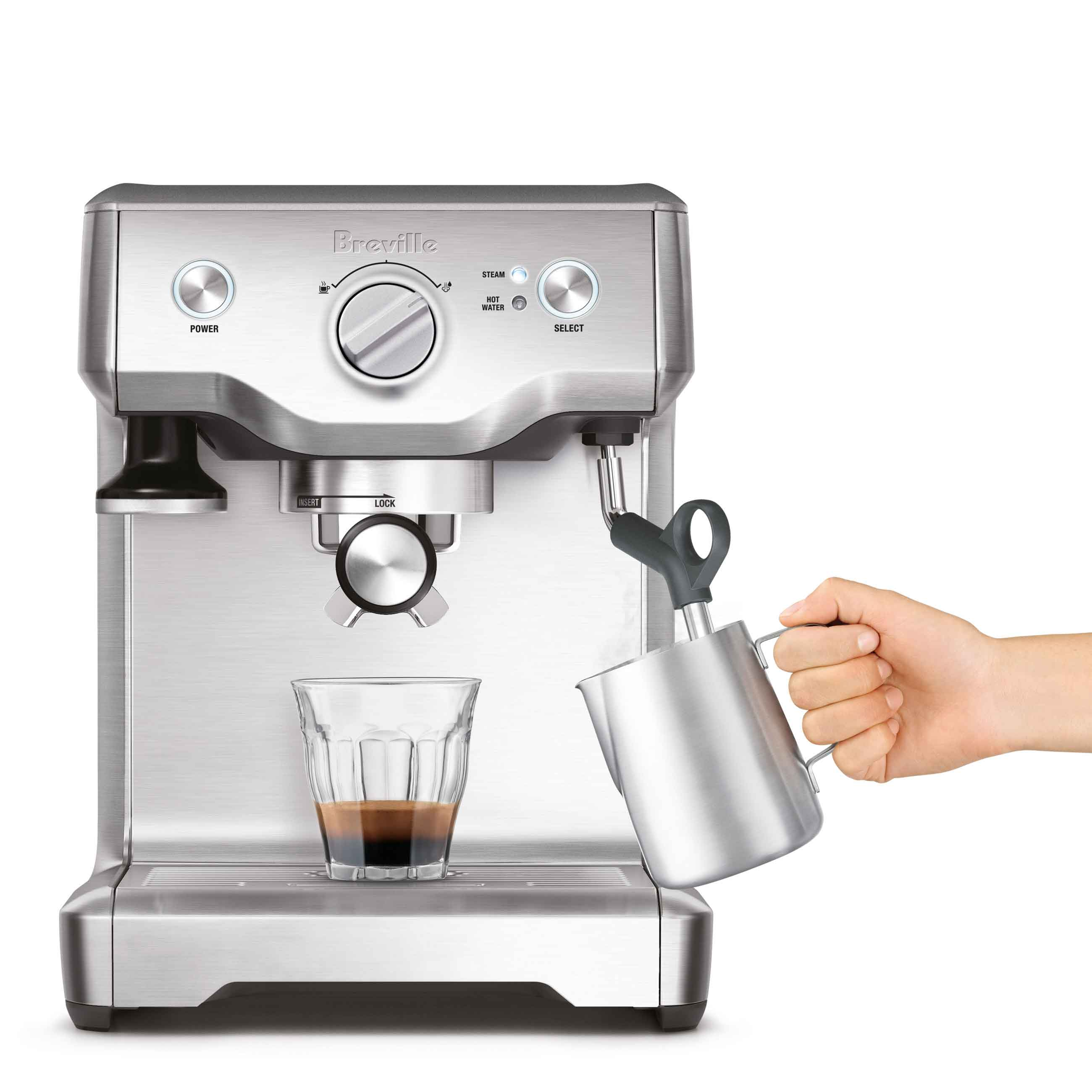 the Duo-Temp™ Pro Espresso in Brushed Stainless Steel with Milk Jug