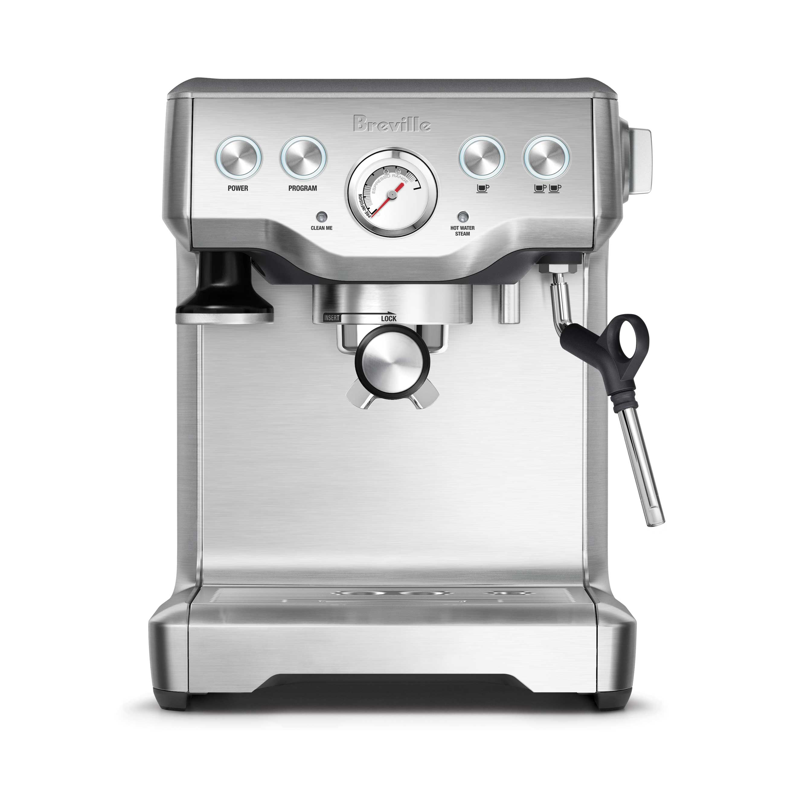 the Infuser Espresso Machine in Brushed Stainless Steel maintenance indicators