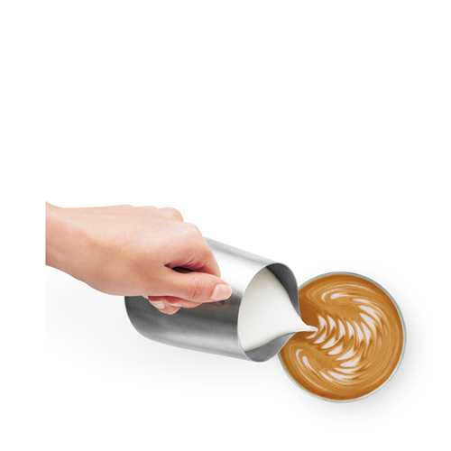 the Dual Boiler™ Espresso in Brushed Stainless Steel mirco-foam milk texturing
