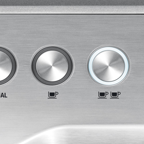 the Dual Boiler™ Espresso in Brushed Stainless Steel shot control