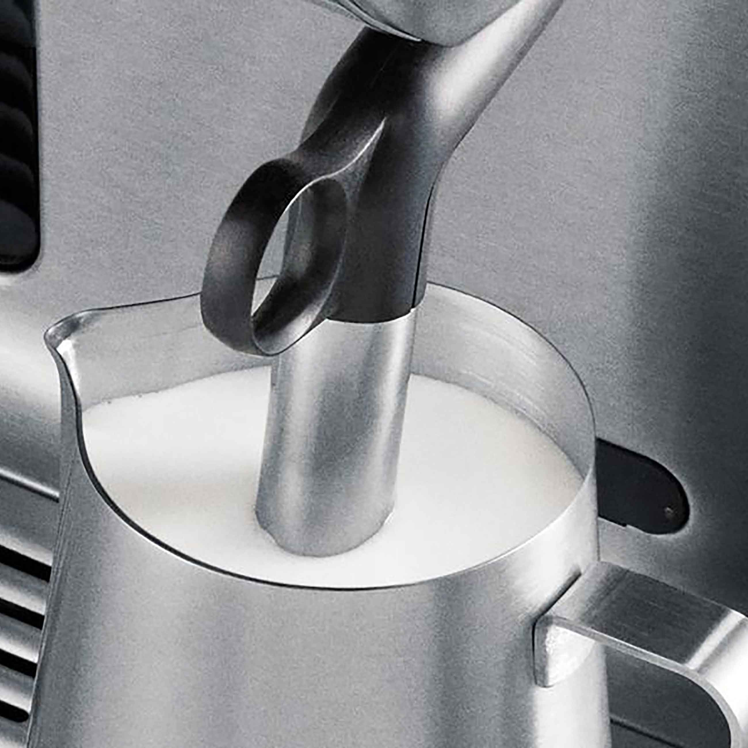 the Oracle® Espresso in Brushed Stainless Steel with milk frother