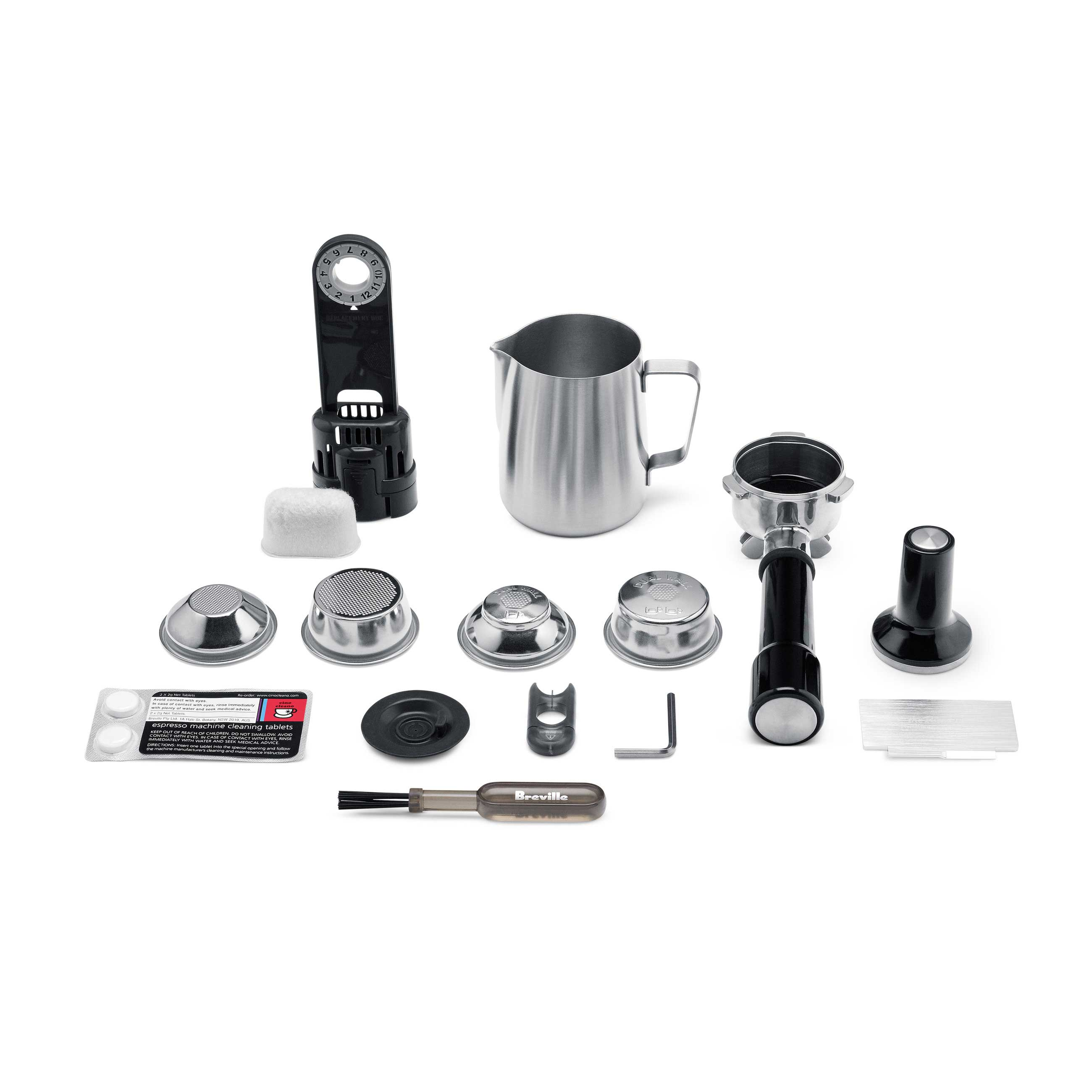the Oracle® Espresso in Brushed Stainless Steel included kit