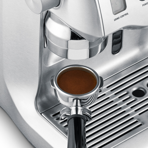 the Oracle® Espresso in Brushed Stainless Steel auto grind and tamp