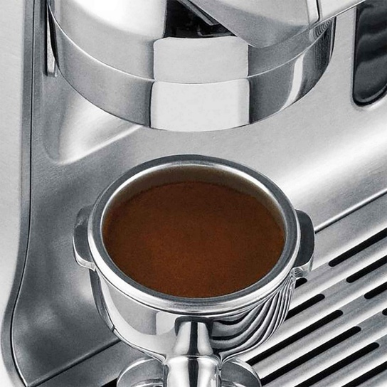 the Oracle Espresso Machine with portafilter