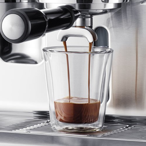 the Oracle Espresso Machine in Brushed Stainless Steel lcd display