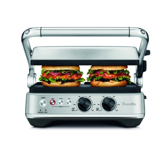 the Sear & Press™ Grill Acier inoxydable brossé