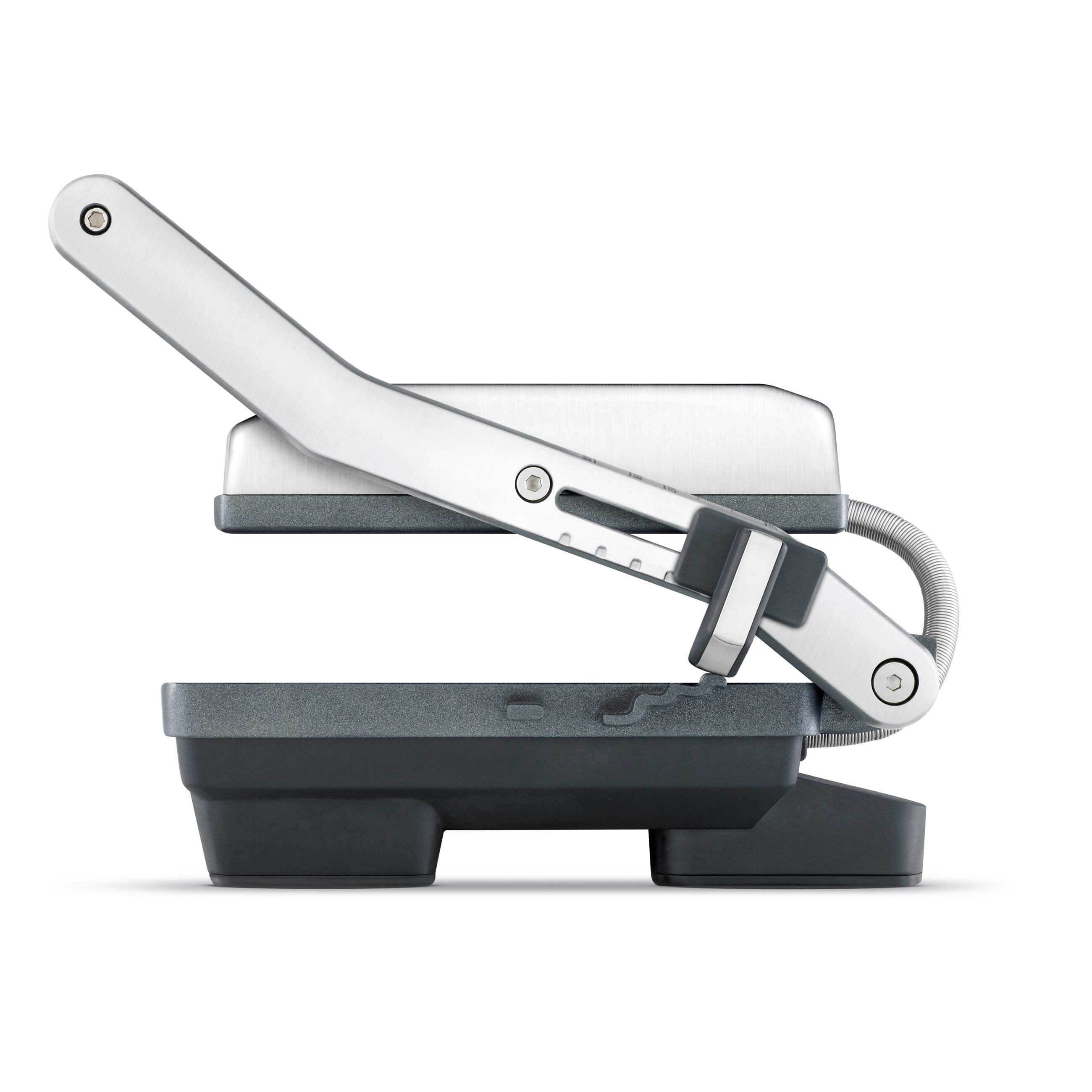 the Toast & Melt™ 2 Slice Sandwich Press grills & sandwich makers in Brushed Stainless Steel side view