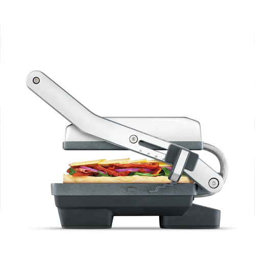 the Panini Duo Sandwich Press in Brushed Stainless Steel with height settings