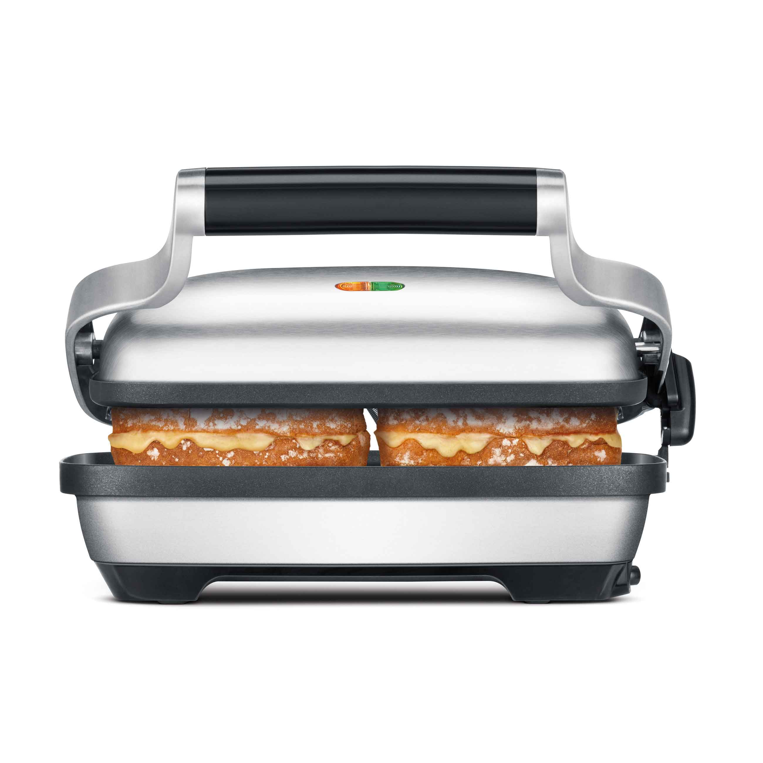 The Perfect Press™ Grills & Sandwich Makers In Brushed Stainless Steel with bread