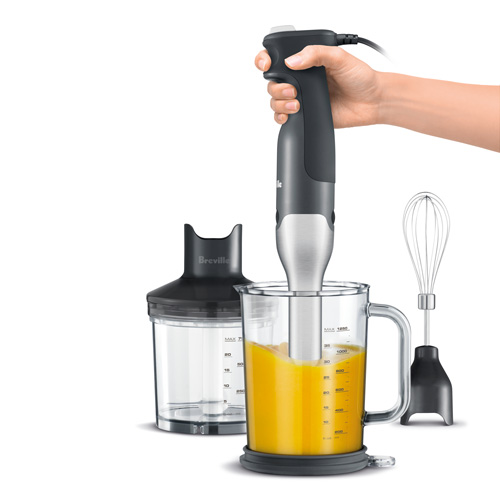 the All in One™ Immersion Blender In Grey anti-suction blending technology