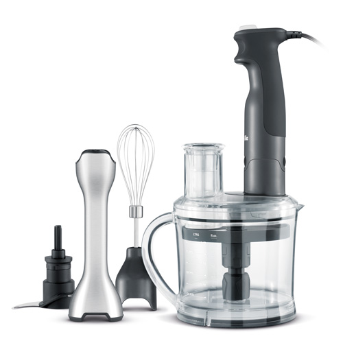 the All in One™ Immersion Blender In Grey 6 cup food processor