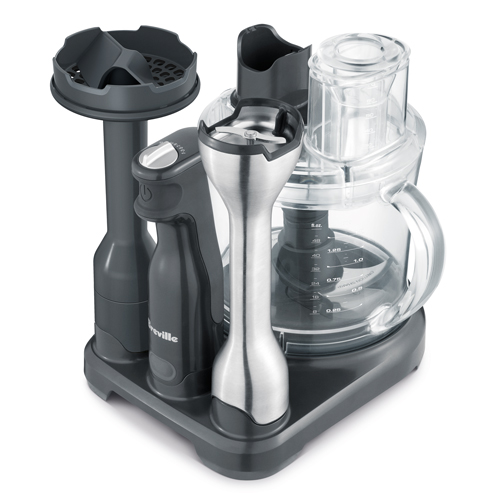 the All in One™ Immersion Blender In Grey compact storage
