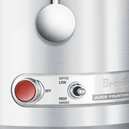 the Juice Fountain Elite Juicer in Silver with 2 speed electronic control