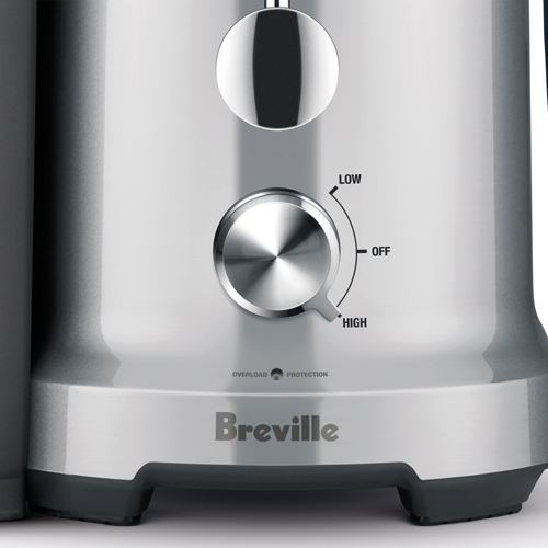the Juice Fountain Cold Juicer in Silver with LED display