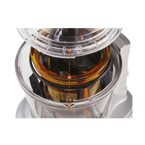 Juicer is designed to be cleaned easily.