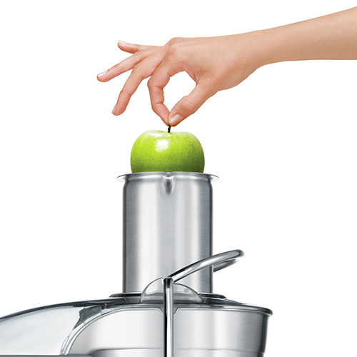"the Juice Fountain® Plus Juicers in Silver with 3"" extra wide feed chute"