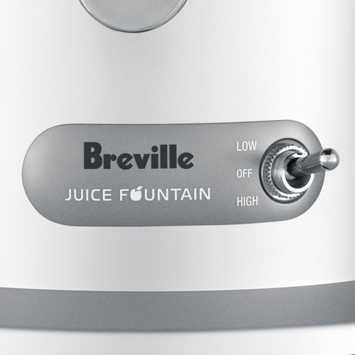 the Juice Fountain® Plus Juicers in Silver two-speed electronic control