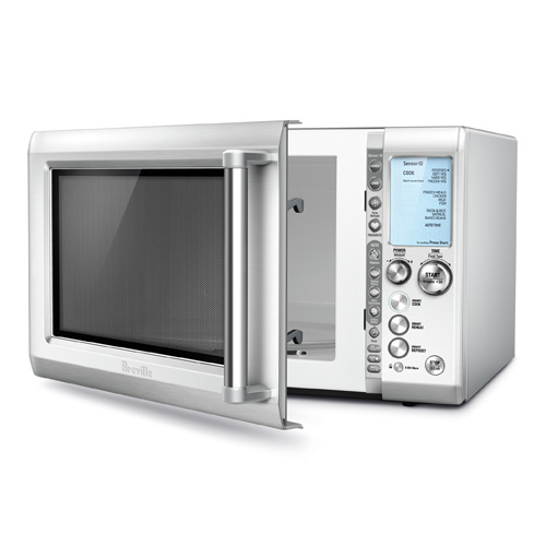 the Breville Quick Touch™  Microwaves In Brushed Stainless Steel shortcuts panel