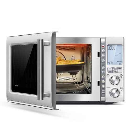 the Combi Wave™ 3 in 1 Microwave in Brushed Stainless Steel with the Versatility of 3 in 1 appliance