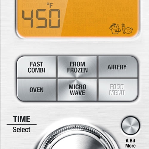 the Combi Wave™ 3 in 1 Microwave in Brushed Stainless Steel with Fast Combi & Cook from frozen functions