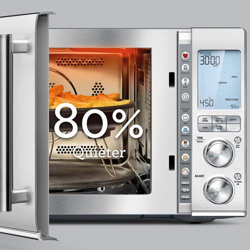 the Combi Wave™ 3 in 1 Microwave in Brushed Stainless Steel with Soft close door & quieter operation