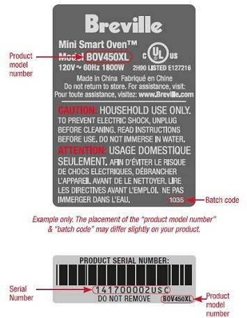 Product Serial Label