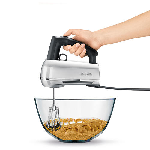 the Handy Mix Scraper Hand Mixer in Silver with beater IQ technology