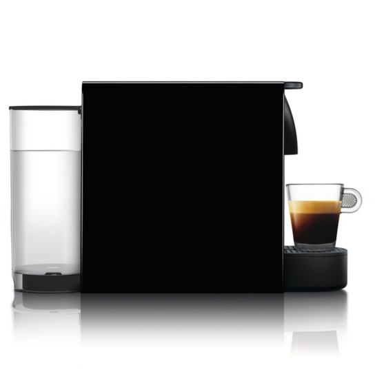Essenza Mini Nespresso in Piano Black Side View