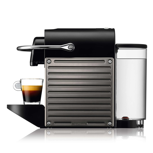 Pixie Nespresso Machine in Electric Titan intuitive & easy to use