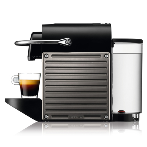 Pixie Bundle Nespresso Machine in Electric Titan intuitive & easy to use