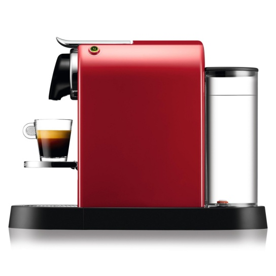CitiZ Nespresso Machine in Cherry Red side view