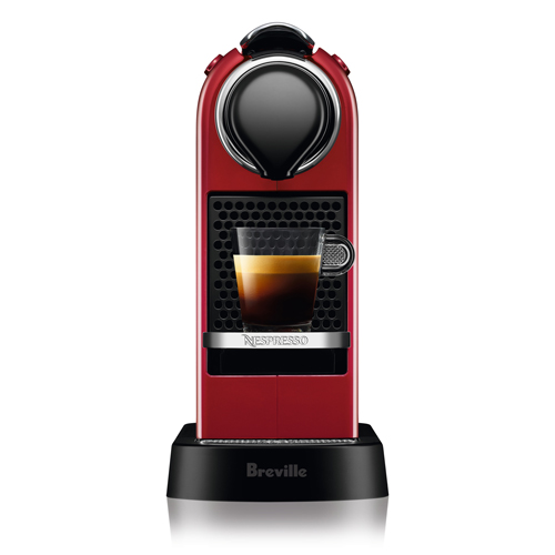 CitiZ Nespresso Machine in Cherry Red compact & modern design