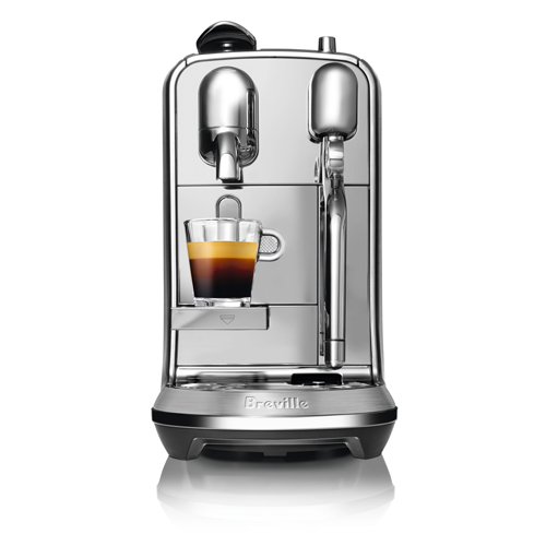 the Creatista Plus Nespresso Machine in Brushed Stainless Steel micro foam