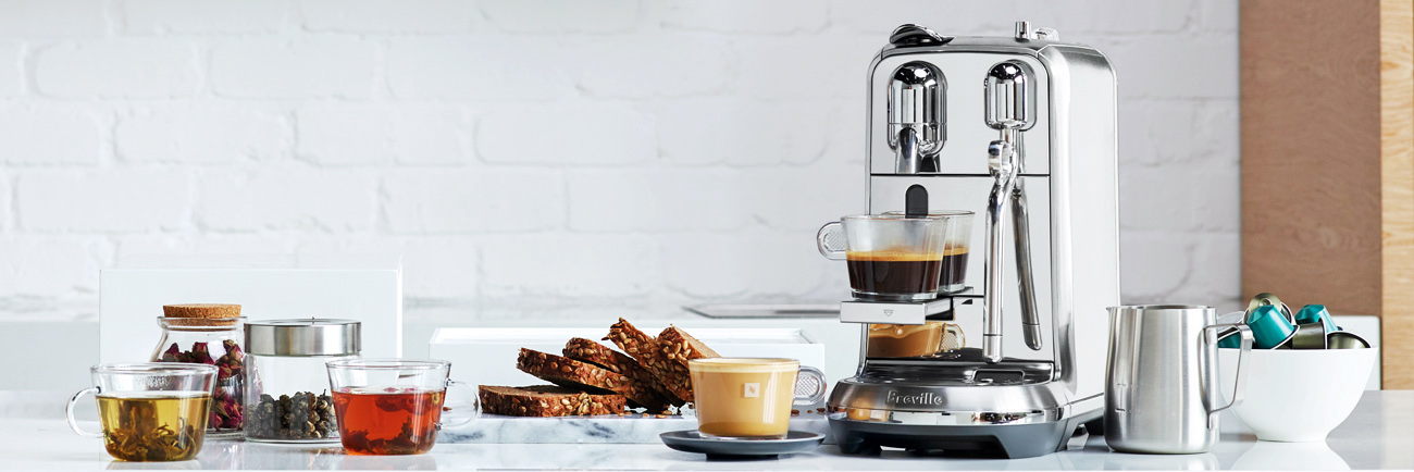 the Creatista Plus Nespresso Machine in Brushed Stainless Steel