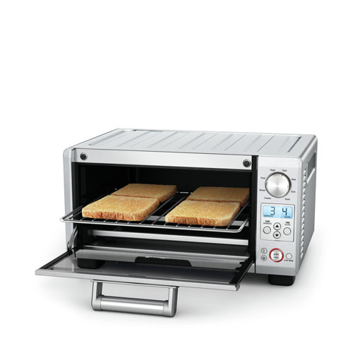 the Mini Smart Oven in Brushed Stainless Steel with 4 slice toast capacity